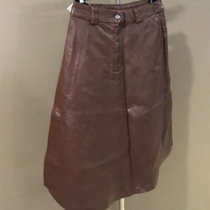 New H&M brown leather skirt size 4